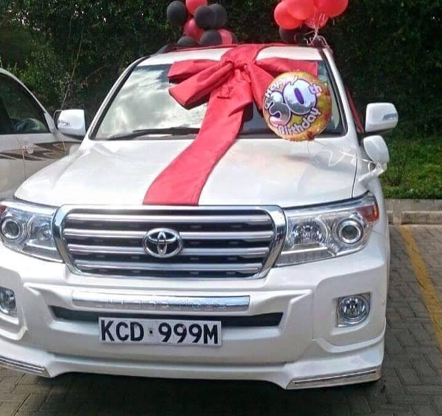 A Kenyan Woman Surprised Her 30 Year Old Husband With Brand New Toyota Landcruiser VX V8The Information Went Viral On Social Media Since This Is Not