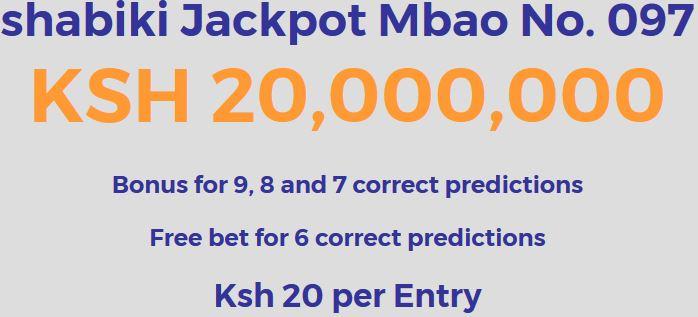 Shabiki Jackpot Predictions, Make Ksh 20 Million This Week – Venas News