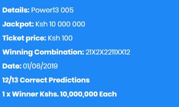 Shabiki Power 13 Jackpot Winners and Result This Week – Venas News